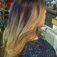 melt purple to blonde